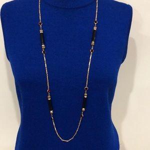 Vintage Stamped Swarovski necklace